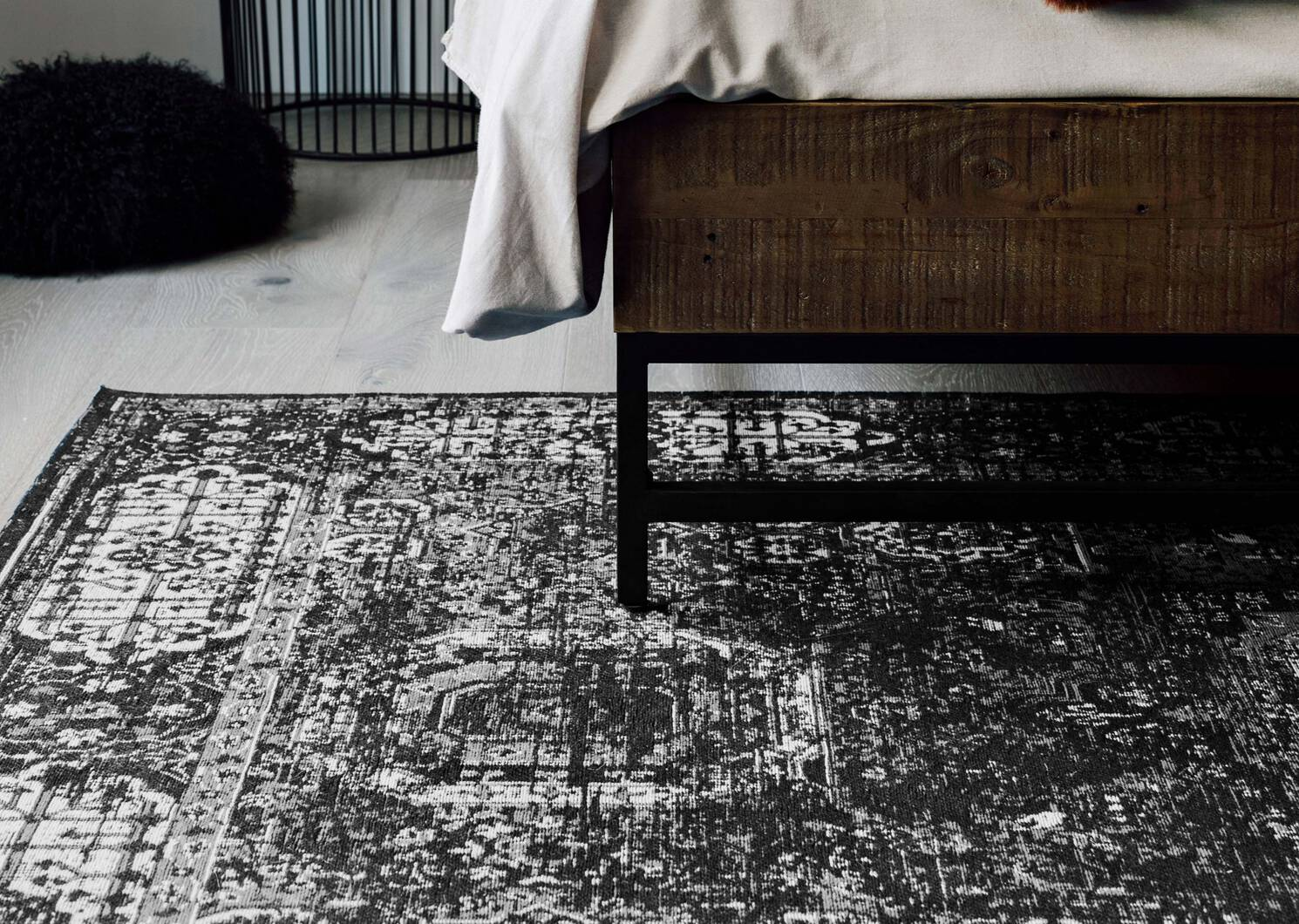 Azusa Rug - Black/Grey/Sand