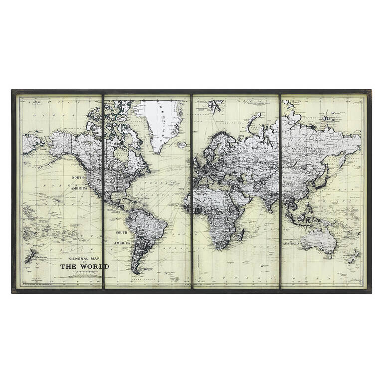 Mapped Out Wall Art