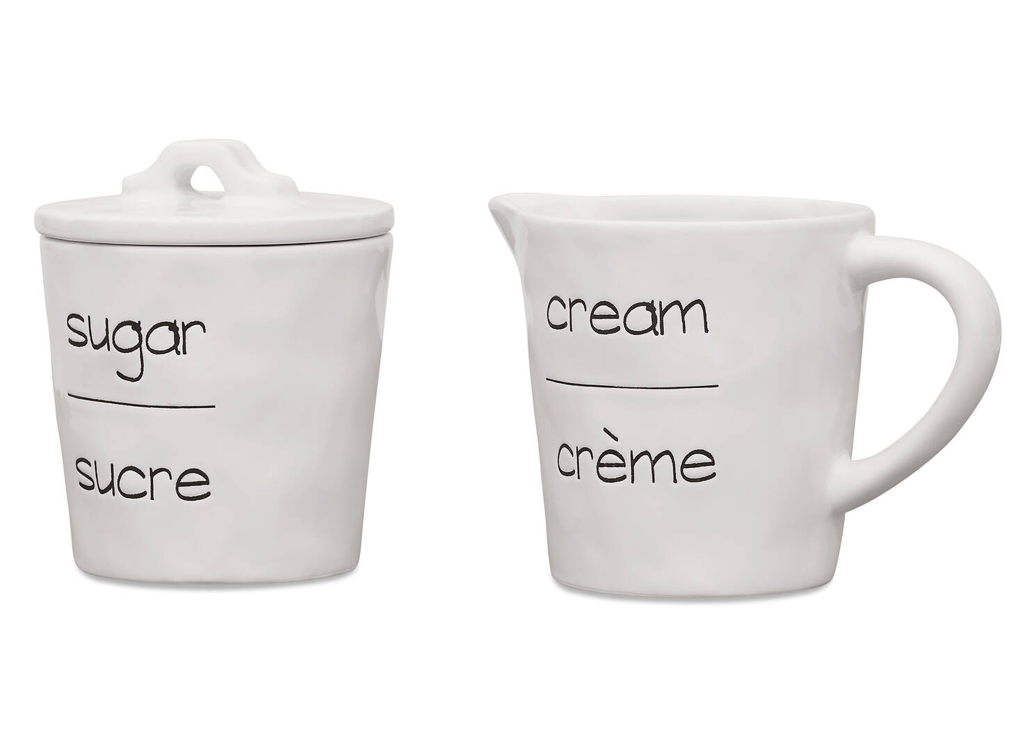 Demi Cream & Sugar Set
