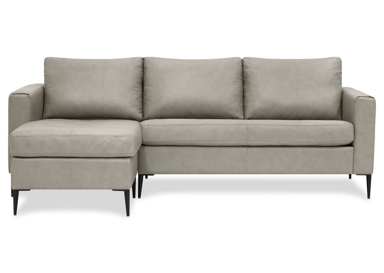 Lucca Custom Leather Sofa Chaise