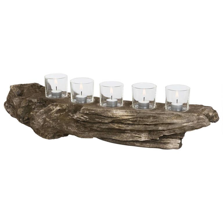 Marsh Tealight Holder Natural