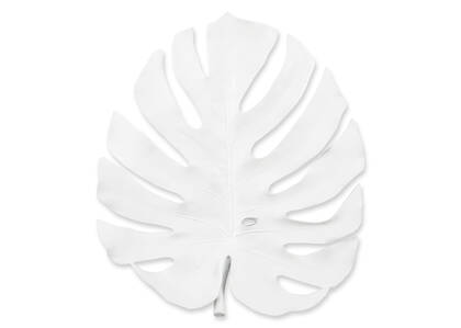 Tuula Monstera Wall Décor White