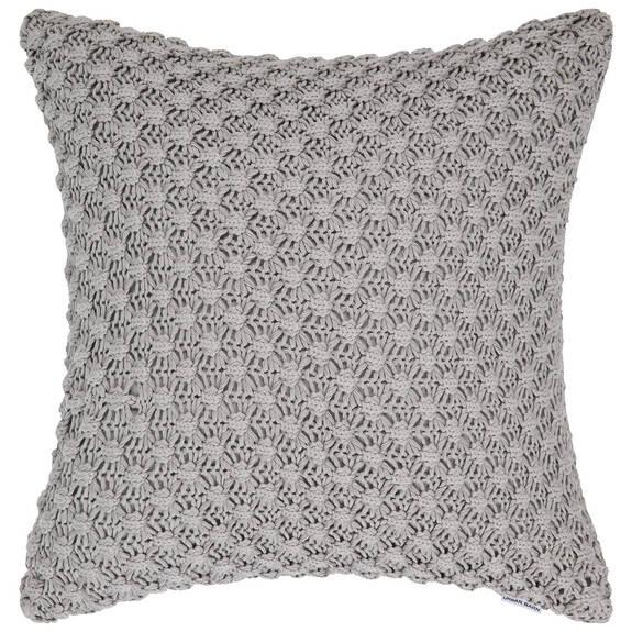 Coussin en coton Ellie 20x20 gris pâle
