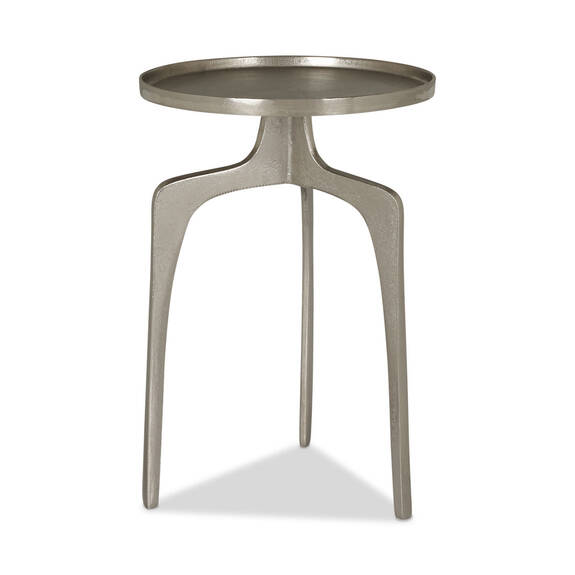 "Saylish Accent Table 21"" -Raw Nickel"