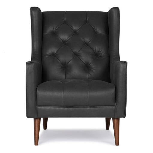 Lincoln Leather Armchair -Thor Coal