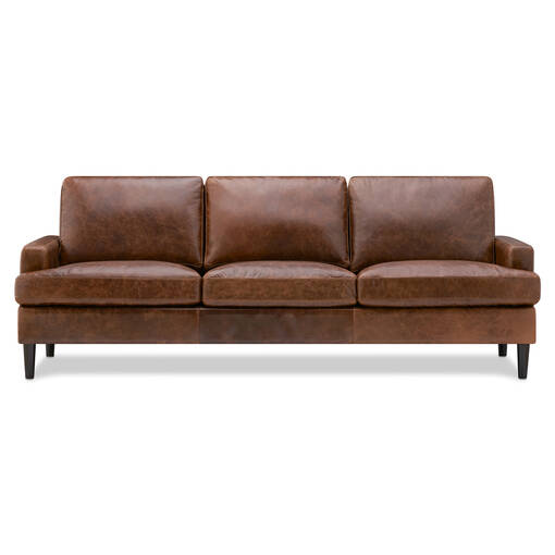 Savoy Custom Leather Sofa