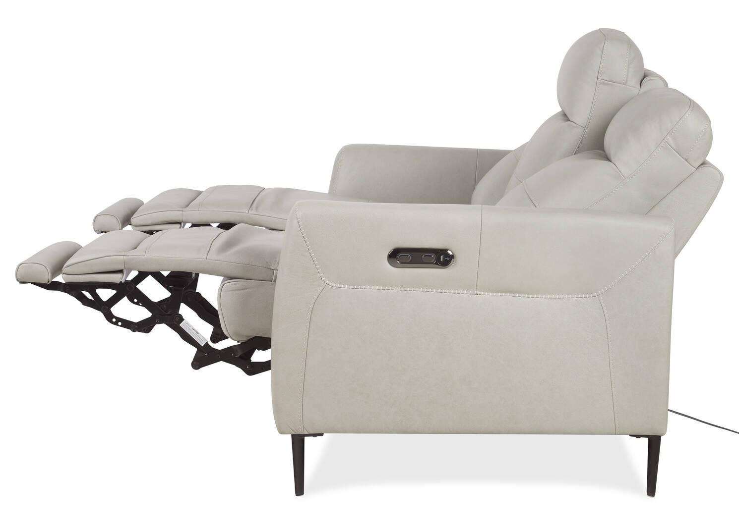 Pearson Leather Reclining Sofa -Ashby Do