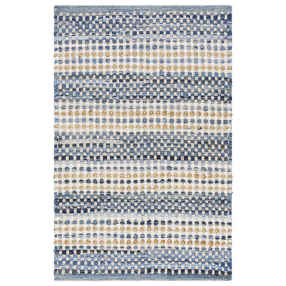 Indra Accent Rug - Blue/Jute