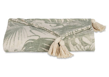 Belgrave Throw Ivory/Fern