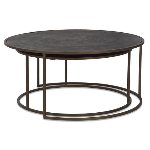 Hemsley Nesting Coffee Table Set -Brass