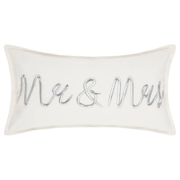Coussin Mr. & Mrs. 12x22 blanc