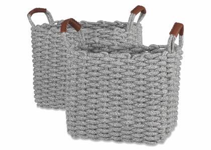 Paniers Corde -gris