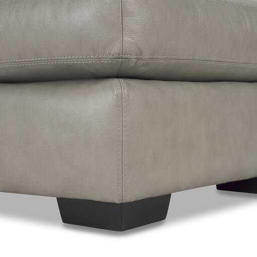 "Brewer Custom Leather Ottoman 30""x28"""