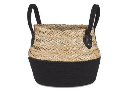 Racquel Basket Small Natural/Black