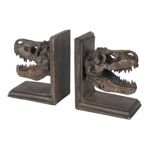 Paleo Head Bookend Set