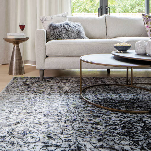 Rousseau Rug - Grey/Black