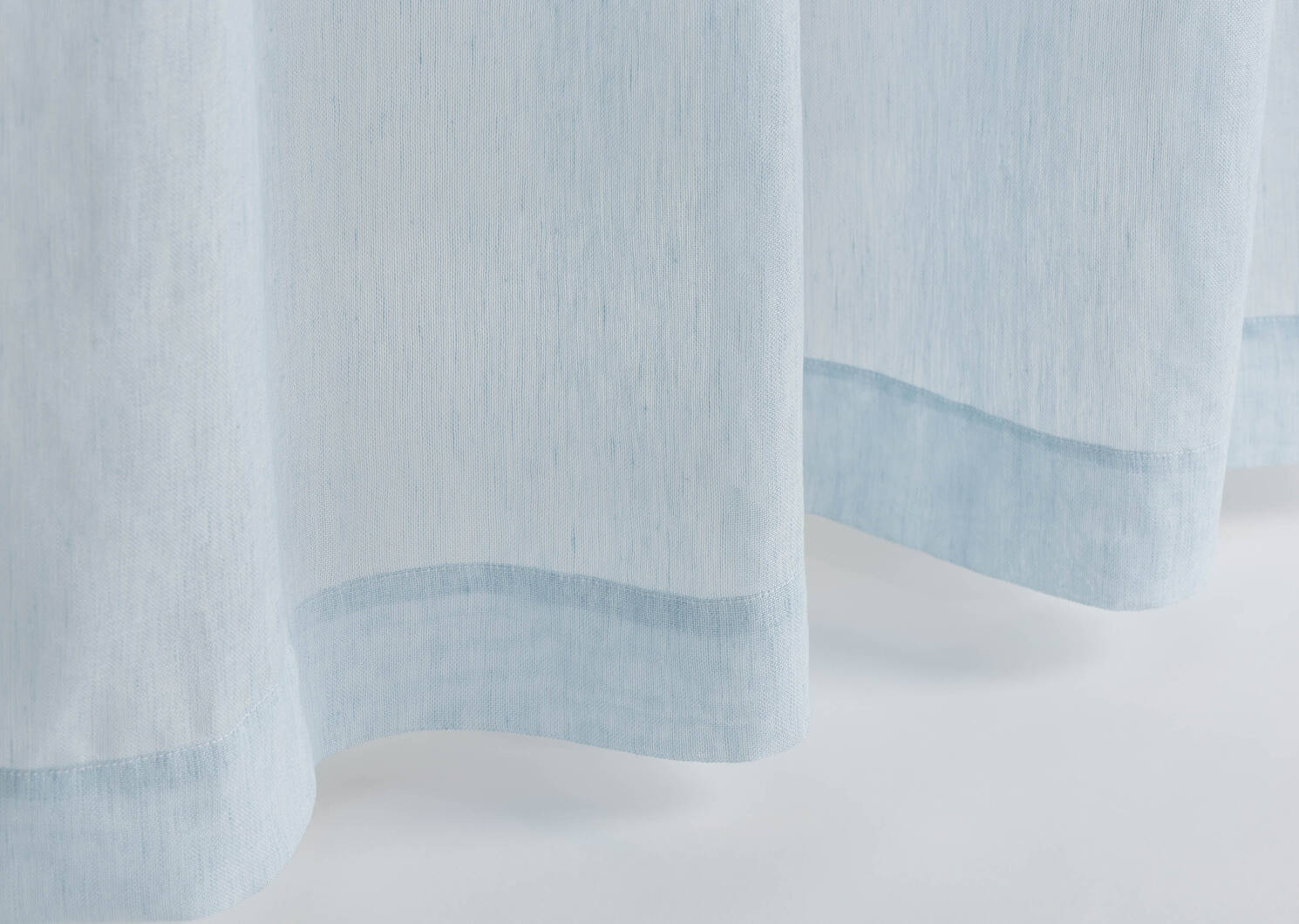 Voilage Misumi 96 bleu pâle