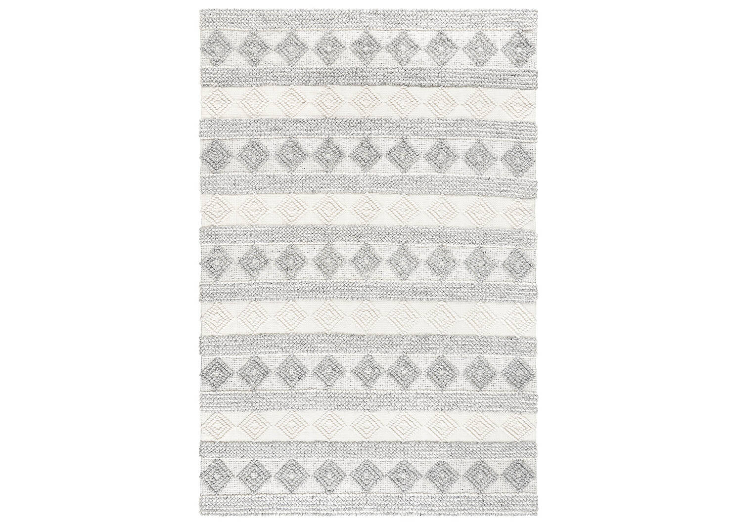 Arkun Rug 96x120 White/Grey