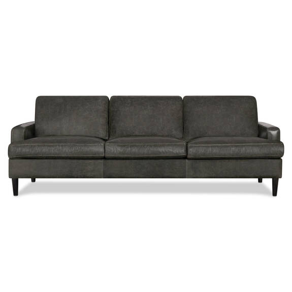 Savoy Leather Sofa -Jasper Graphite