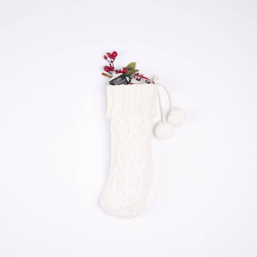 Lottie Knit Stocking Ivory