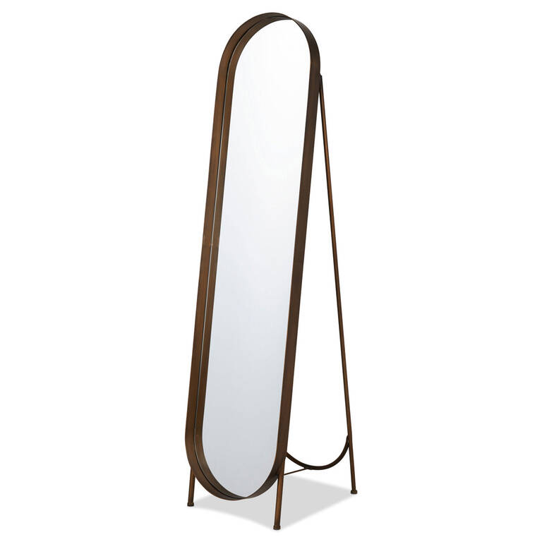Britton Floor Mirror Brass