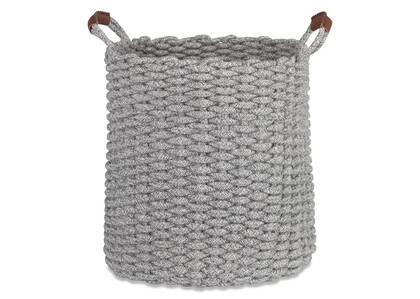 Grand panier à linge Corde gris multi