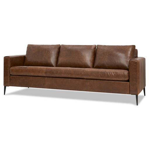 Lucca Custom Leather Sofa