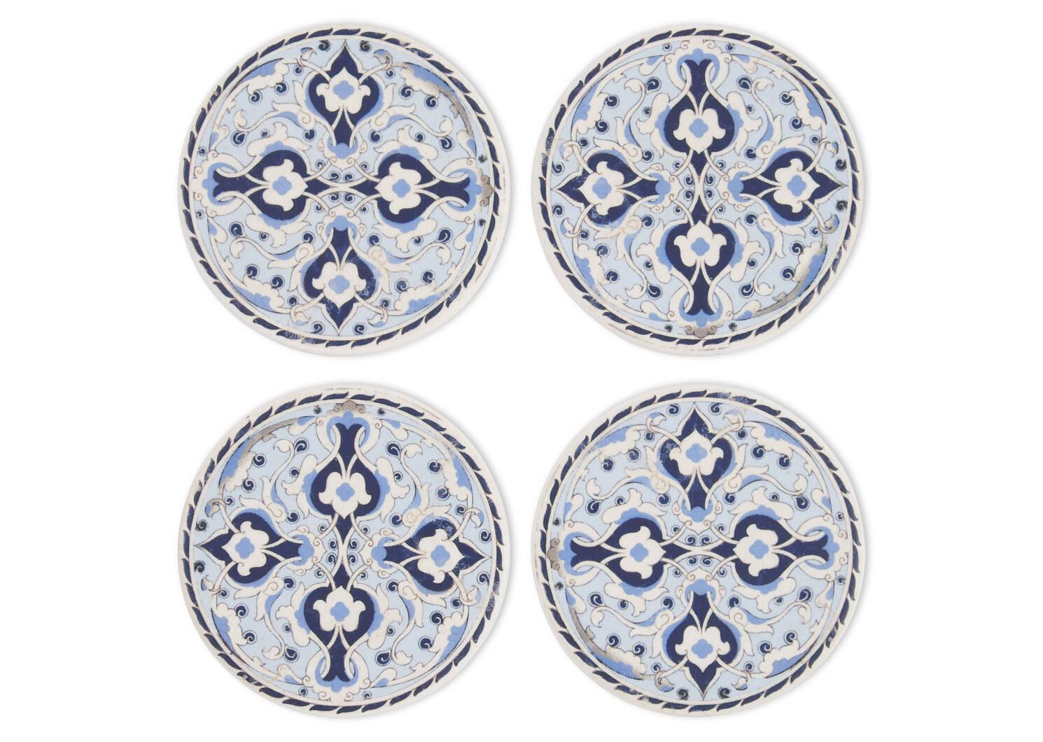 Ensemble de sous-verres Tangalle bleus