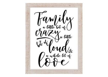 Crazy Loud Family Plaque