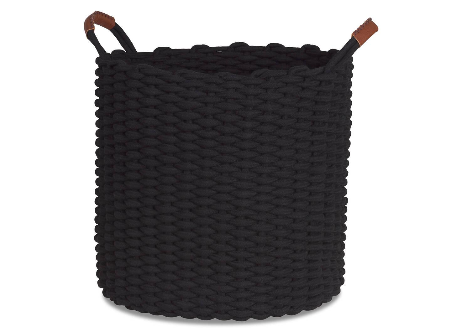 Panier à linge Corde noir