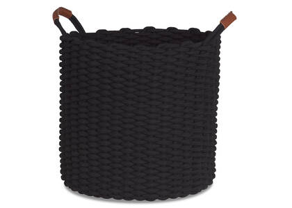 Corde Laundry Basket Black