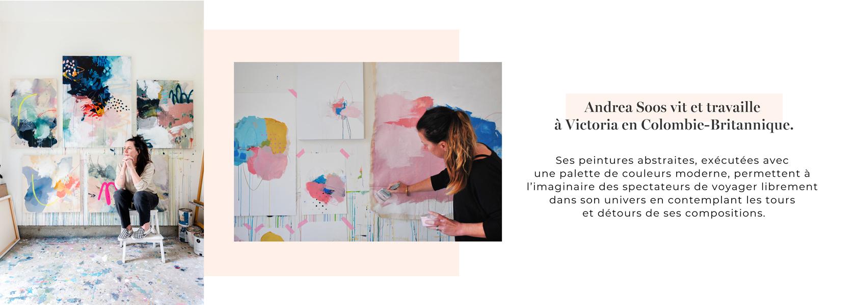 Andrea Soos vit et travaille à Victoria en Colombie-Britannique.