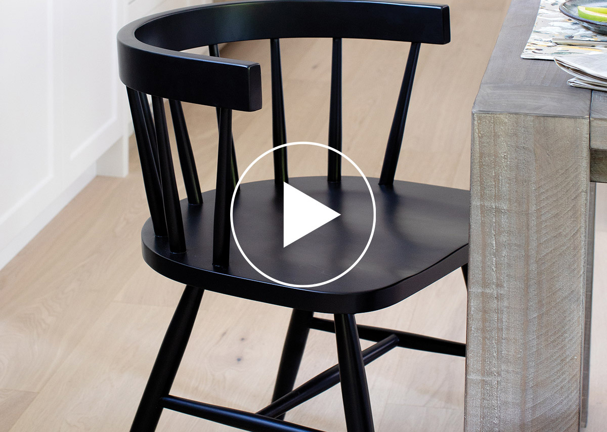 Chaise Atzlee -noire
