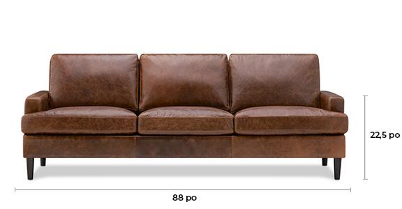 Canapé en cuir Savoy -Jasper noyer