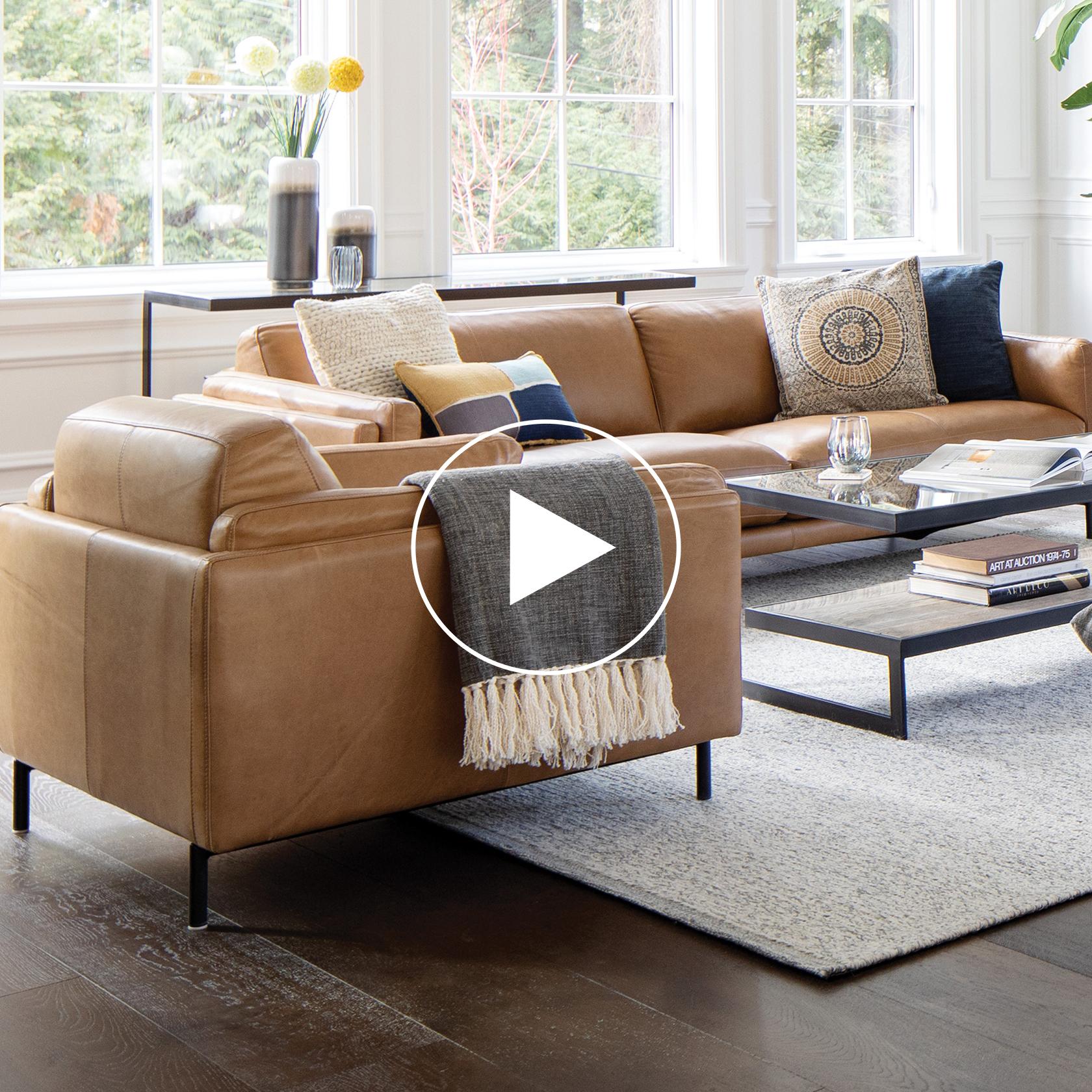 Renfrew Leather Armchair -Adler Tan