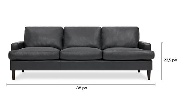 Canapé en cuir Savoy personnalisé
