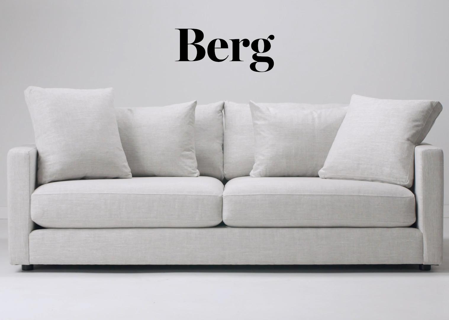 Berg Sofa -Aiden Platinum