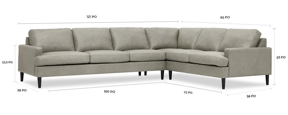 Canapé modulaire en cuir Savoy personnalisé