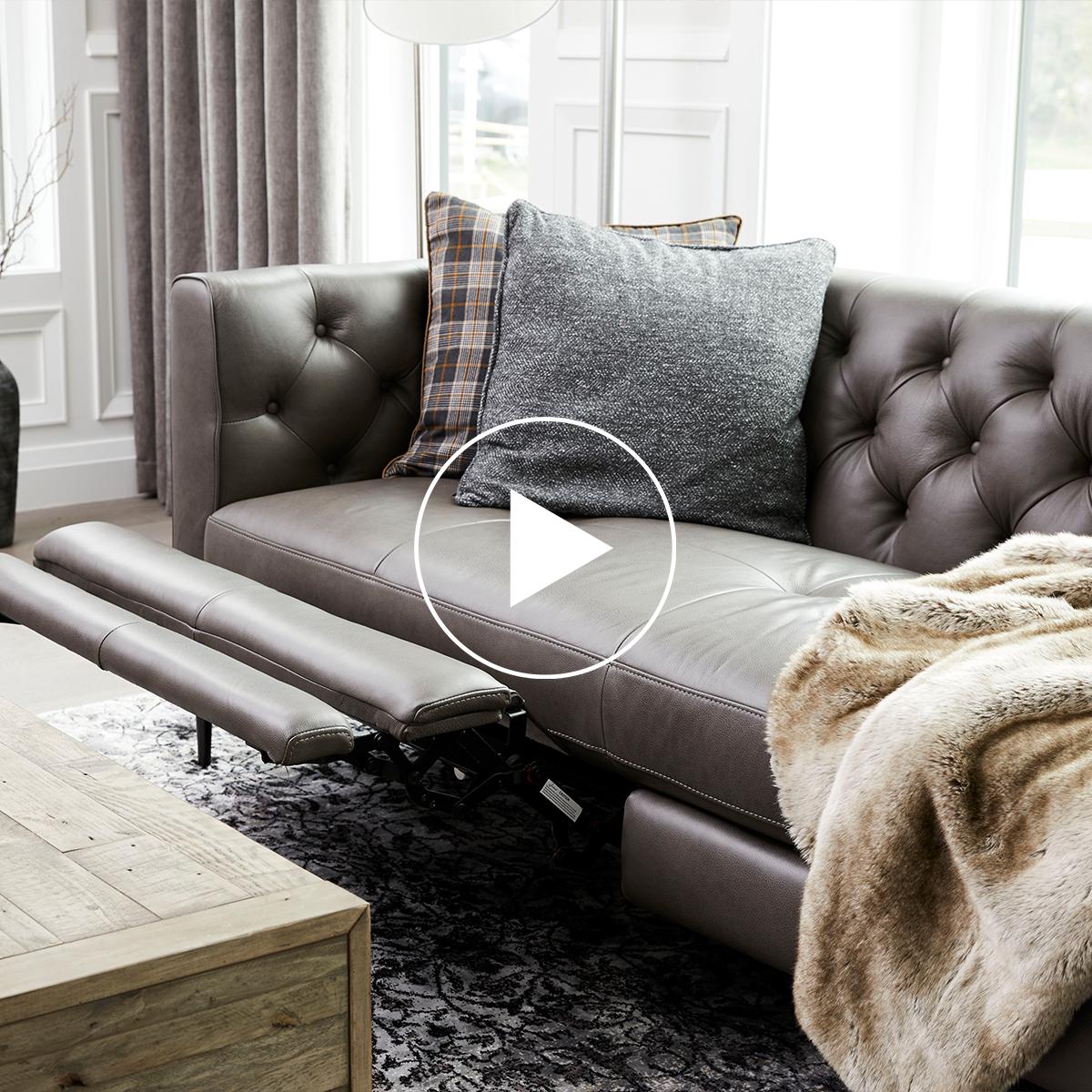 Canapé inc. cuir McKay -Ashby pierre