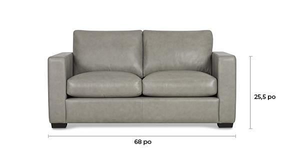 Canapé en cuir Burke personnalisé